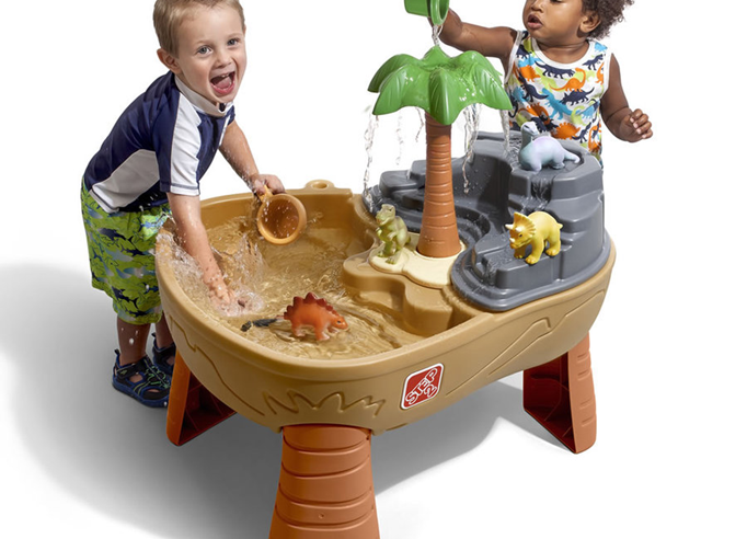 Playing With Sand, Water and Transportation Toys